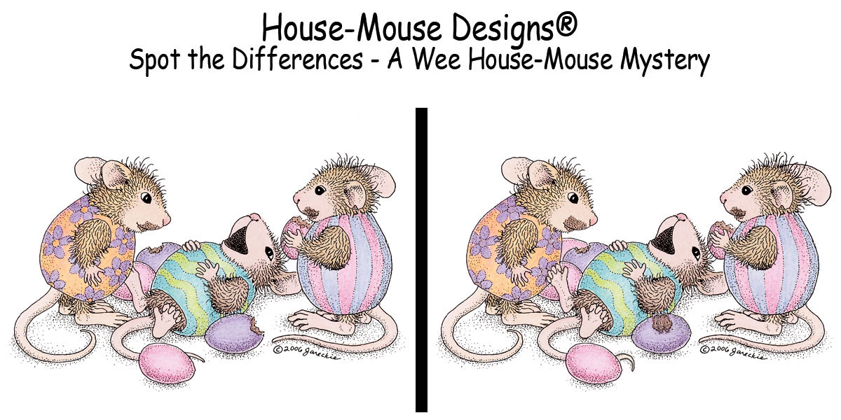 House-Mouse Designs® - Spot the differences