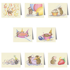 New Ass't Birthday Pack of 8 - House-Mouse Designs® Birthday Cards