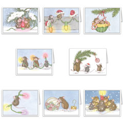 8 diff Christmas Cards + 8 Env - House-Mouse Designs® Newest Assorted Package of 8 Christmas Cards