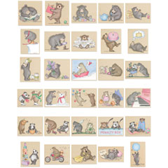 Gruffies® -   1 each of all 30 Gruffies® - Gruffies® Rubber Stamps