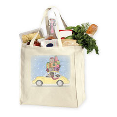 Grocery Tote Bag - 15 x 14 x 7