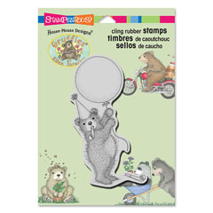 CLING BALLOON BEAR - Our Newest House-Mouse Designs® Cling rubber stamps