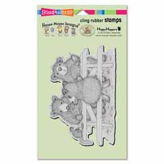 CLING PICNIC BEARS - Our Newest House-Mouse Designs® Cling rubber stamps
