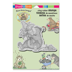 CLING LILAC BEAR - Our Newest House-Mouse Designs® Cling rubber stamps