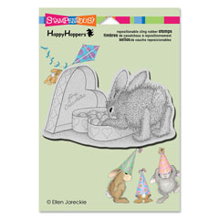 CLING BON BON BUNNY - Our Newest House-Mouse Designs® Cling rubber stamps