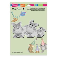 CLING EASTER HARES - Our Newest House-Mouse Designs® Cling rubber stamps