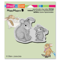 CLING FORGET ME NOTS - Our Newest House-Mouse Designs® Cling rubber stamps