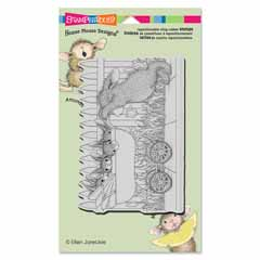 CLING BABY BUGGY BUNNIES - Our Newest House-Mouse Designs® Cling rubber stamps
