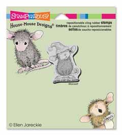 CLING SANTA MOUSE - Our Newest House-Mouse Designs® Cling rubber stamps