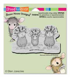 CLING BOW TIED - Our Newest House-Mouse Designs® Cling rubber stamps