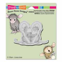 CLING CANDY CANE KISS - Our Newest House-Mouse Designs® Cling rubber stamps
