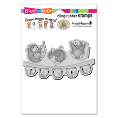 Cling Jingle Jolly Stamp - Our Newest House-Mouse Designs® Cling rubber stamps