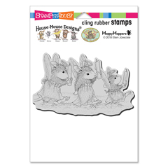 Cling Angel Procession Stamp - Our Newest House-Mouse Designs® Cling rubber stamps
