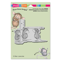 Cling Measuring Up - Our Newest House-Mouse Designs® Cling rubber stamps