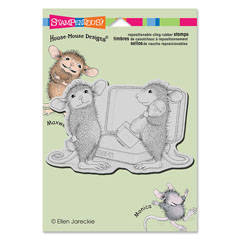 CLING KISS STAMP - Our Newest House-Mouse Designs® Cling rubber stamps