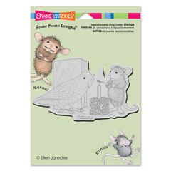 CLING BIRTHDAY BIRD - Our Newest House-Mouse Designs® Cling rubber stamps