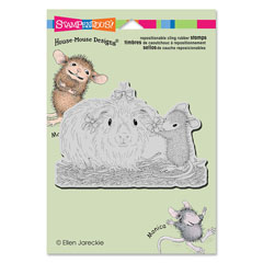 CLING PRETTY GUINEA - Our Newest House-Mouse Designs® Cling rubber stamps