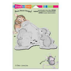 CLING CARD SHARK - Our Newest House-Mouse Designs® Cling rubber stamps