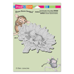 CLING SUNFLOWER SMILE - Our Newest House-Mouse Designs® Cling rubber stamps
