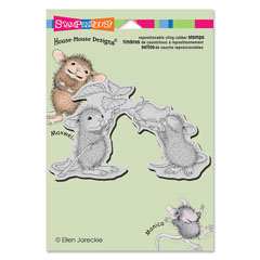 CLING SMELL THE ROSES - Our Newest House-Mouse Designs® Cling rubber stamps
