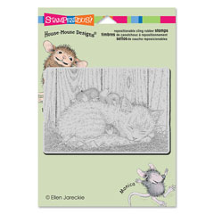 CLING CAT NAP - Our Newest House-Mouse Designs® Cling rubber stamps