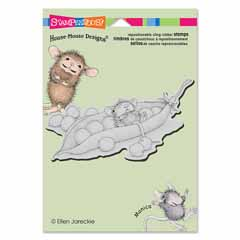CLING PEA POD NAP - Our Newest House-Mouse Designs® Cling rubber stamps