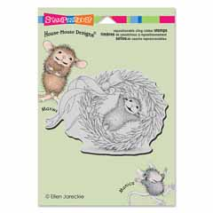 CLING WREATH ROLLING - Our Newest House-Mouse Designs® Cling rubber stamps