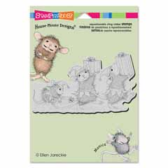 CLING ELF GIFTS - Our Newest House-Mouse Designs® Cling rubber stamps