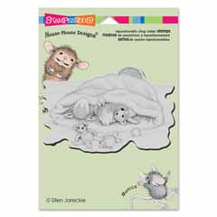 CLING SNOW CAP NAP - Our Newest House-Mouse Designs® Cling rubber stamps