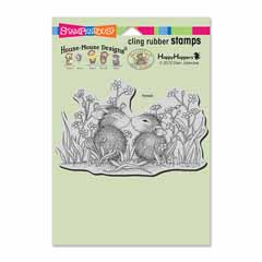 CLING GARDEN KISS - Our Newest House-Mouse Designs® Cling rubber stamps