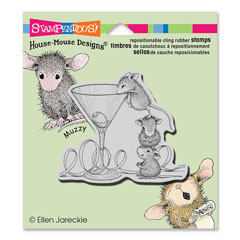 CLING MARTINI MICE - Our Newest House-Mouse Designs® Cling rubber stamps