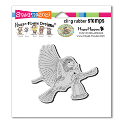 Cling Cardinal Bell Stamp - Our Newest House-Mouse Designs® Cling rubber stamps