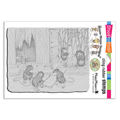Cling Mice Hockey Rubber Stamp - Our Newest House-Mouse Designs® Cling rubber stamps