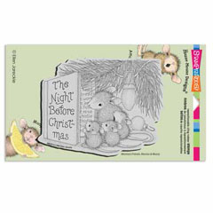 CLING CHRISTMAS STORY - Our Newest House-Mouse Designs® Cling rubber stamps