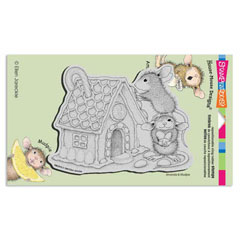 CLING GINGERBREAD HOUSE - Our Newest House-Mouse Designs® Cling rubber stamps