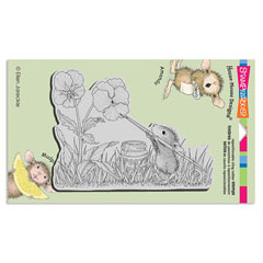 CLING PAINTED PANSIES - Our Newest House-Mouse Designs® Cling rubber stamps