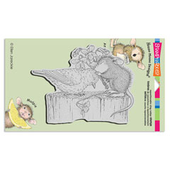 CLING BIRDIE KISS - Our Newest House-Mouse Designs® Cling rubber stamps