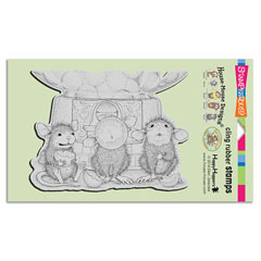 Cling Gumball Gathering - Our Newest House-Mouse Designs® Cling rubber stamps