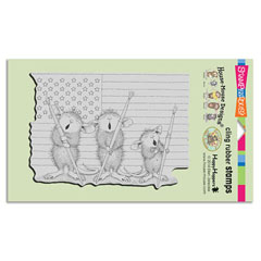 Cling Patriotic Painters - Our Newest House-Mouse Designs® Cling rubber stamps