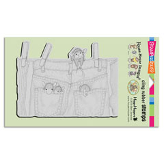 Cling Hanging Jeans - Our Newest House-Mouse Designs® Cling rubber stamps