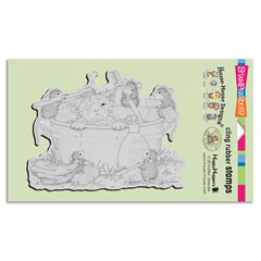 CLING KITTY CLEANING - Our Newest House-Mouse Designs® Cling rubber stamps