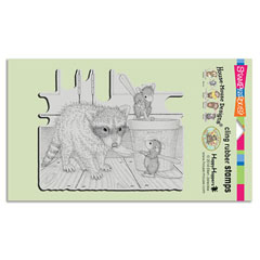 CLING ICE CREAM BANDIT - Our Newest House-Mouse Designs® Cling rubber stamps