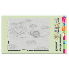 CLING LILY PAD LIFE - Our Newest House-Mouse Designs® Cling rubber stamps