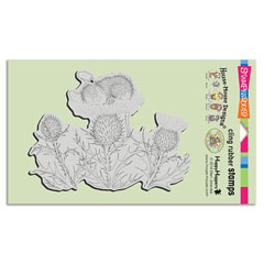 CLING THISTLE NAP - Our Newest House-Mouse Designs® Cling rubber stamps