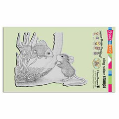 CLING FISHY KISS - Our Newest House-Mouse Designs® Cling rubber stamps