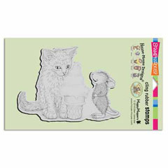 CLING ICE CREAM KITTY - Our Newest House-Mouse Designs® Cling rubber stamps