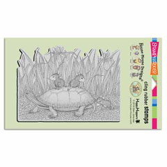 CLING TURTLE RIDE - Our Newest House-Mouse Designs® Cling rubber stamps