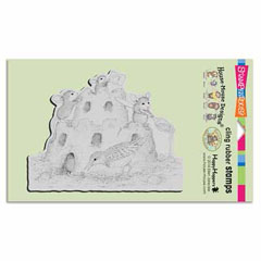 CLING CASTLE CONSTRUCTION - Our Newest House-Mouse Designs® Cling rubber stamps