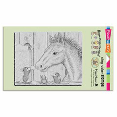 CLING SUGAR CUBE COLT - Our Newest House-Mouse Designs® Cling rubber stamps