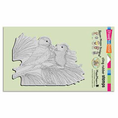CLING BIRDIE BOW - Our Newest House-Mouse Designs® Cling rubber stamps